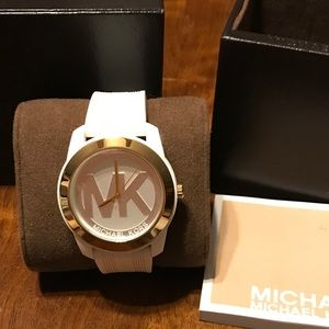 Michael Kors White silicone watch new in box
